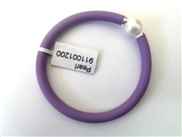 14040570-Purple 925 Silver w/Rubber Bracelet