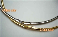 "20533 2mm Steel Omega Cable with Rhodium Plated 16"" & 18"""