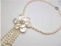 20683-10 MOP 1 flower Combo Necklace