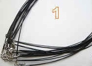 "20728 12 Strands Wire Cable Necklace with 925 silver claps 16"" & 18"""