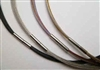 "20737 3mm Wire Cable Necklace w/316L 16"" & 18"""