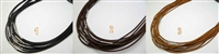 "20753 2.0mm Leather necklace w/316L 16"", 18"" & 20"""