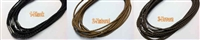 "20755 3mm Braid Leather necklace with 316L 16"", 18"" & 20"""