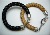 20803 Leather Bracelet with 925 Silver Clasp