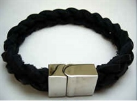 20832 Leather Bracelet with Stainless Steel Claps