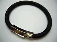 20848 Leather Bracelet with Stainless Steel Claps