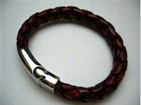 20849 Leather Bracelet with Stainless Steel Claps