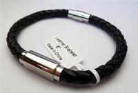 20854 Leather Bracelet with Stainless Steel Claps