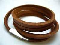 20856 Leather Bracelet with Stainless Steel Claps