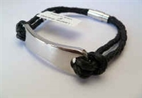 20873 Leather Bracelet with Stainless Steel Claps