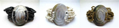 22478-2 Sea Shell Pendant w/Sea Beads Bracelet