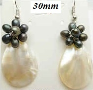 33323 30mm MOP Tear Drop Earring