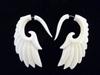 33327 45mm Buffalo Bone Carving Earring