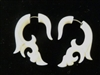 33335 Buffalo / Horn Bone Carving Earring