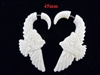 33336-45 45mm Buffalo Bone Carving Earring