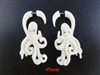 33337-45 45mm Buffalo Bone Carving Earring