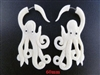 33337-60 60mm Buffalo Bone Carving Earring