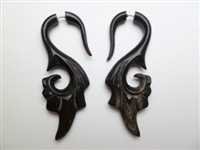 33343 60mm Buffalo Horn Earring