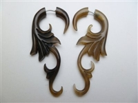 33344 60mm Buffalo Horn Earring