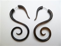 33346-45 45mm Buffalo Horn Earring