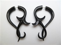 33349 50mm Buffalo Horn Carving Earring