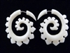 33353 35mm Buffalo Bone Carving Earring