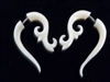 33354 40mm Buffalo Bone Carving Earring