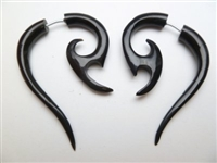 33362 45mm Buffalo Horn Carving Earring