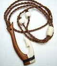 35002 Buffalo Bone Hook w/Wood Necklace
