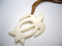 35003 Buffalo Bone Turtle Necklace