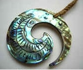 35011-3 Abalone pendant Necklace