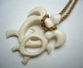 35059 Buffalo Bone Turtle Necklace
