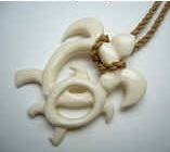 35297 2nd Grade Buffalo Bone Necklace