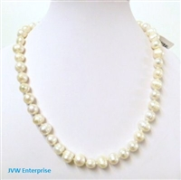 38001 7-8mm Round Fresh Water Pearl 18""