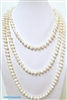 38002 7-8mm genuine round fresh water pearl necklace 64""