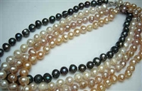 38019 9-10mm Round Shape Fresh Water Pear Necklace 18""