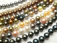 38024 7-8mm MOP Shell Pearl Necklace 64""