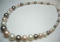38026 Graduation MOP Shell Pearl Necklace