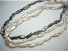 38027 Long Fresh Water Pearl Necklace 18""