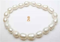38031B 7-8mm Rice Fresh Water Pearl Bracelet