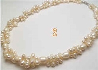 38037 Twist Fresh Water Pearl Necklace 18""
