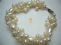 38037B Twist Fresh Water Pearl Bracelet 8.5""