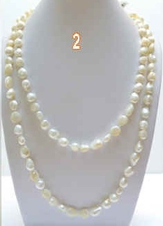 38050 7-8mm Fresh Water Pearl Necklace 32""