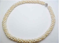 38076-3 Fresh Water Pear Necklace 18""