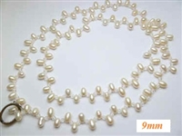 38077 9mm Fresh Water Pear Necklace 36""