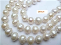 38078-10 10mm Fresh Water Pear Necklace 20""