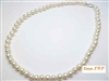 38078-8 8mm Fresh Water Pear Necklace 18""
