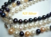 38401 7-8mm Round Fresh Water Pearl w/925 9mm Lobster