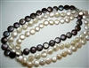 "38412 Fresh Water Pearl Necklace 18"" w/925 Silver Claps"