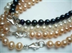 "38416 5-6mm Potato Fresh Water Pearl Necklace 18"" w/925 Silver 9mm Claps"